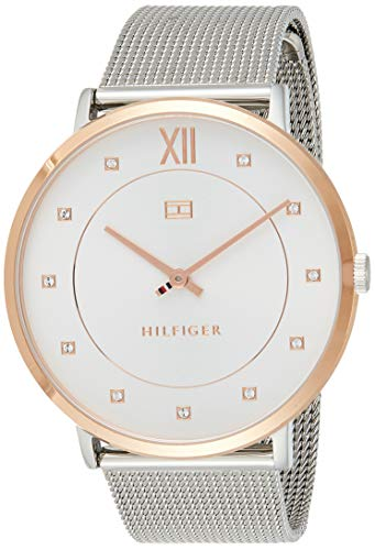 Tommy Hilfiger Women's Sophisticated Sport Quartz Watch with Stainless-Steel Strap, Tone, 20 (Model: 1781811)