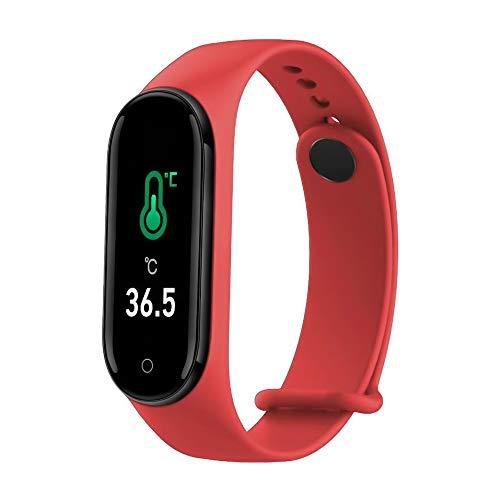 Smart Bracelet Blutsauerstoffsättigung & Temperatur & Blutdruck & Herzfrequenzmesser Fitness Zwei-Wege-Suche IP67 wasserdichte Uhr Remote-Kamera