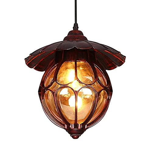 Aplique de pared, Paraguas de metal de bronce rojo Luces colgantes del pasillo Guardarropa mediterráneo creativo Pasillo Lámpara colgante de techo Vintage Industrial Balcón Accesorios de iluminación
