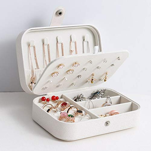 Schmuckschatulle Exquisite Schmuckschatulle Ohrringhalter Dreistufige Aufbewahrung Make-up Aufbewahrung Tragbare Beauty Travel Box Tabelle