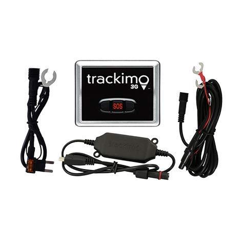 Trackimo GPS Tracker 2G + KFZ Paket mit extra Sicherung am Kabel, inkl. 1 Jahr Datendienst weltweit/Car Kit/Auto/Urlaub/Freizeit/Outdoor