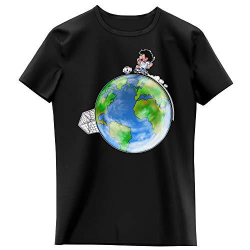T-Shirt Enfant Fille Noir Parodie Olive et Tom - Captain Tsubasa - Olivier Atone - Le Plus Grand Terrain de Foot du Monde : (Version Collector) (T-Shirt Enfant de qualité Premium de Taille 13-14 Ans