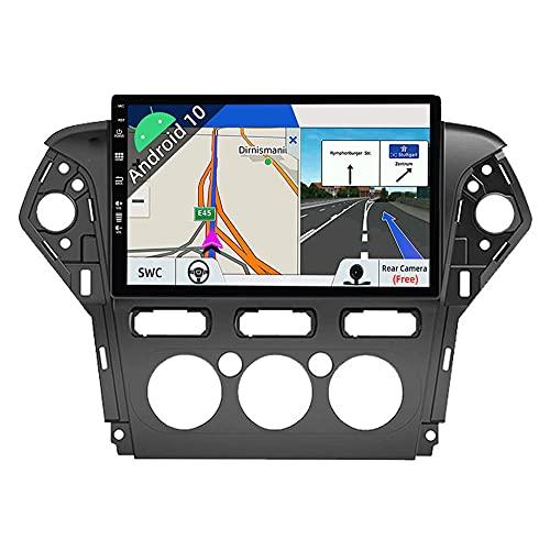 JOYX Android 10 Autoradio Compatibile Ford Mondeo (2007-2010) - [2G+32G] - 2 DIN - Telecamera Canbus Gratuiti - 10.1 Pollici 2.5D - Supporto DAB 4G WLAN Bluetooth5.0 Carplay Android Auto Volante