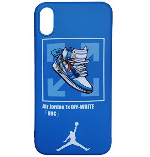 VIDALIBRE JUstJUnto Funda iPhone/Carcasa iPhone, Impresión de Marca Deportivo, Diseño de Zapatillas Jordan, Color Azul (iPhone X/XS)