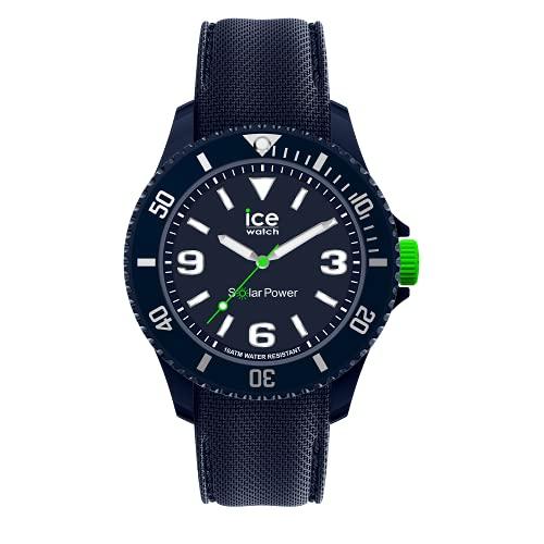 Ice-Watch Ice Sixty Nine Dark Blue Solar, Reloj Azul para Hombre con Correa de Silicona, 019545, Medio
