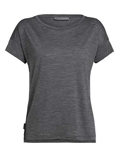 icebreaker Via Scoop T-Shirt Damen Monsoon Heather Größe M 2020 Kurzarmshirt