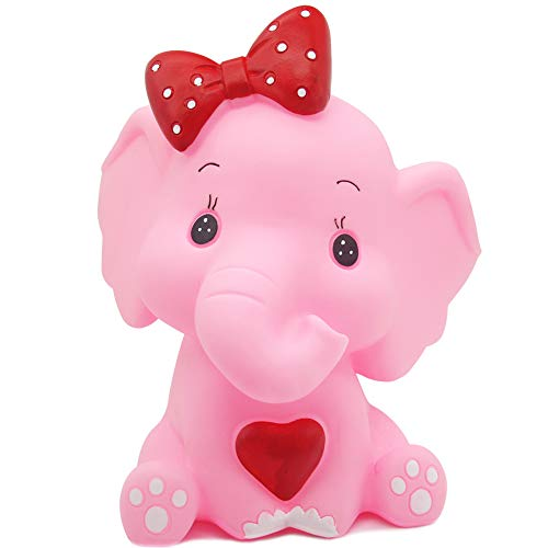 H&W Elephant Coin Bank(B), Can Store 900 Coins, Money Box, Pink (WK3-D3)