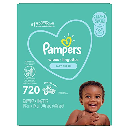 Pampers Baby Wipes Complete Clean Baby Fresh Scent 9X 80 Pop-Top - 720...