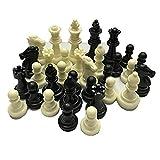 CHUJIAN Piezas de ajedrez Medieval/plásticos completos Piezas de ajedrez Internacional Palabra Juego de ajedrez de Entretenimiento Blanco y Negro (Color : Negro)