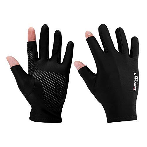 Faletony 1 Paar Handschuhe Angeln Gloves Neopren Handschuhe Angelhandschuhe Sonnenschutz atmungsaktiv Anti-Skid Fahrrad-Handschuhe für Damen und Herren