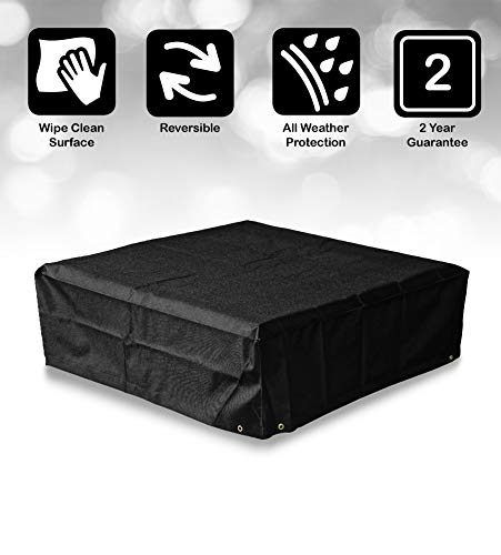 Bosmere Modular Coffee Table Cover, Large, Black, M605