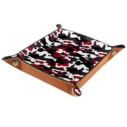 MUMIMI Caja de almacenamiento para joyas, anillos, pendientes, joyas, anillos, anillos, color negro, gris, rojo, blanco, camuflaje