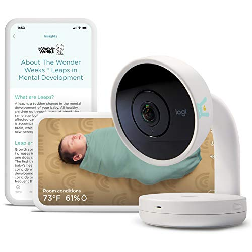 Lumi by Pampers Smart Baby Monitor: HD Video Baby Monitor (with camera and audio), Wifi, Night Vision, Temperature & Humidity Tracking - Compatible with the Lumi Smart Sleep System (Sold Separately)