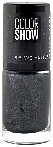 Maybelline Color Show 5th Avenue Matte 453 High Heel Pavem esmalte de uñas Negro Mate 7 ml - Esmaltes de uñas (Negro, High Heel Pavems, 1 pieza(s), Mate, Botella, 7 ml)