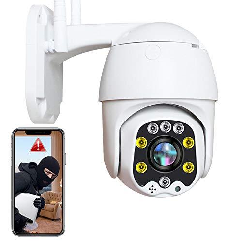 Sim Tarjeta 4G PTZ IP Cámara Exterior 1080P HD Cámara de Vigilancia Exterior con IP66 Impermeable,30M HD Visión Nocturna,Control APP,Alerta Email,P2P,Detección de Movimiento,Onvif 【Cámara+32G-Tarjeta】