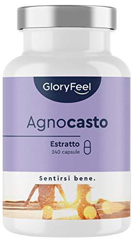 Integratore Agnocasto per Ciclo Mestruale, Fertilità e Menopausa, Estratto 4:1 10mg Pepe del Monaco da Vitex Agnus Castus ad alto dosaggio, 240 capsule vegan