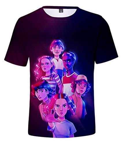 EMILYLE Donna Maglietta Manica Corta Season 3 Stranger Things Stampa di Lettere Mostro Hawkins T-Shirt