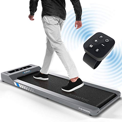 Kinetic Sports FW5000 Laufband ultradünn, 750W Motor, LCD-Display, Bluetooth Lautsprecher, Geschwindigkeit 0,8-6 km/h, 6+1 Programme, GEH- und Lauftraining, Fernbedienung, Heim/Büro