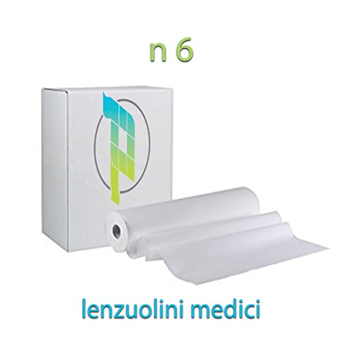 Palucart lenzuolino medico per lettino rotolo carta lettino massaggio 6 lenzuolini medici 75 altezza 60cm
