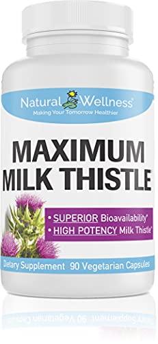 naturals thistles Natural Wellness Maximum Milk Thistle 240mg - 90 Caps Silybin Phytosome, Milk Thistlefor Liver Detox