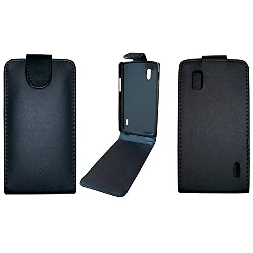 PANGTOU Cajas del teléfono Funda de Cuero Suave con Tapa Vertical Pure Color para LG Nexus 4 / E960