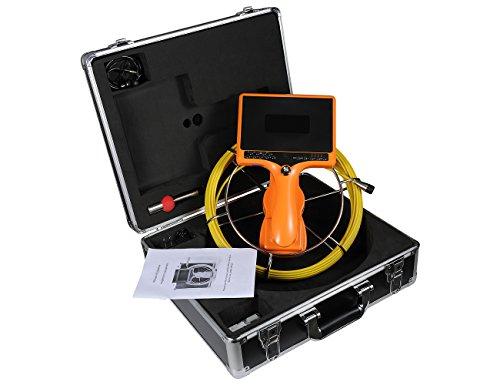 TIANG Handabwasserkanalkamera mit DVR und Distanzzähler/tragbarer Endoskop-Kontrollkamera mit Kabel IP68 20M / 65FT 7inch 1000TVL für Abflussrohr-Kanal-Inspektion