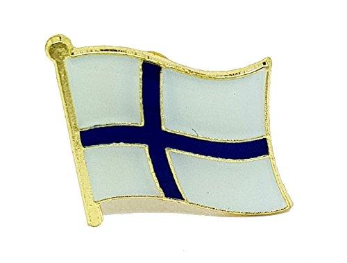 Shopiyal Brosche Nationalflagge Finnland Emaille Pin Anstecknadel Brosche aus hochwertigem Metall Emaille zum Sammeln Geschenk Schmuck für Kleidung Hemd Jacken Mäntel Krawatte Hüte Taschen Rucksäcke