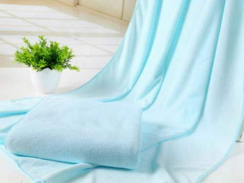 Xiaobing 70x140cm Microfibra baño seco Toalla de Playa Toalla de baño Toalla de baño paño -Sky Blue-70x140cm