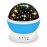 Proyector Bebes Luces, 360° Rotación Lampara Proyector Infantil, iThrough Proyector Estrellas Techo para Habitación...