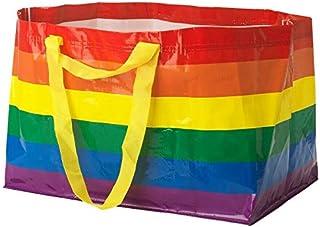 IKEA KVANTING Rainbow Pride Multicolored Bag Shopping Storage Laundry