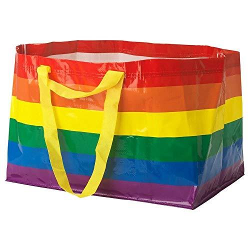 IKEA KVANTING Rainbow Pride Multicolored Bag Shopping Storage Laundry (Standard version)