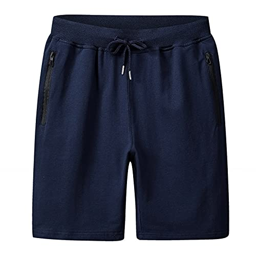 Sporthose Herren Sport Shorts Sommer Basic Kurze Hosen Laufhose - Klassisch Bermuda Shorts mit Taschen und Tunnelzug - Herren Shorts für Heim und Freizeit - Mehrfarbig & M-6XL