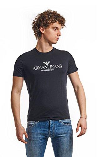Armani Jeans Camiseta estampada logo Negro XL