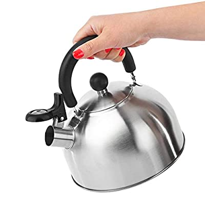 2/3/4L Whistling Tea Kettle Stovetop Whistling Tea Pot Food Grade Stainless Steel Teakettle Tea Pots For Stove Top With Anti -scalding Handle Loud Whistle, Applicable To All Heat Sources