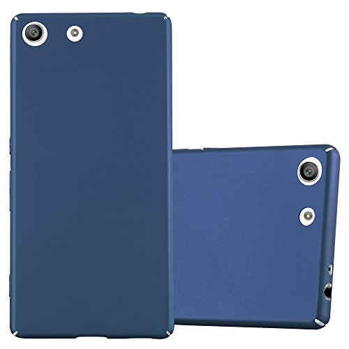 Cadorabo Funda para Sony Xperia M5 en Metal Azul - Cubierta Protección de Plástico Duro Super Delgada e Inflexible con Antichoque - Case Cover Carcasa Protectora Ligera