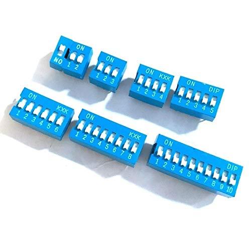 Xyhcs 10pcs Interruptor de Cremallera de Tipo Módulo 1 2 3 4...