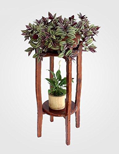 XIAOLIN- bois massif racks de fleurs Chlorophytum radis vert racks de fleurs intérieur Des couches multiples cadre Bonsai salle de séjour racks de fleurs --Cadre de finition de fleurs ( Couleur : 60 cm )