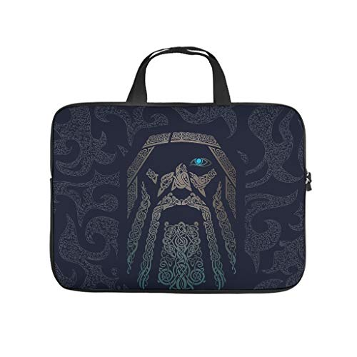 Odin Viking Texture Totem Background Laptop Tote Bag Water Resistant Laptop Case Laptop for Notebook/MacBook/Ultrabook/Chromebook White 15 Zoll