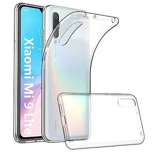 GeeRic Kompatibel Für Xiaomi Mi 9 Lite Hülle Silikon, Ultra Thin Tasche Cover Schlank Weich Flexibel Anti-Kratzer Schutzhülle Abdeckung Hülle Transparent Kompatibel Mit Xiaomi Mi 9 Lite