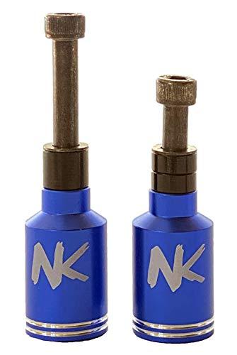 Nokaic Estriberas Pegs para Scooter Patinete Freestyle, 2 Unidades con Tornillos incluidos (Azul)