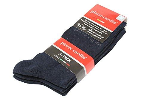 3 Paar Pierre Cardin Business Socken Strümpfe Herrensocken Herrenstrümpfe (39-42, dunkelblau)