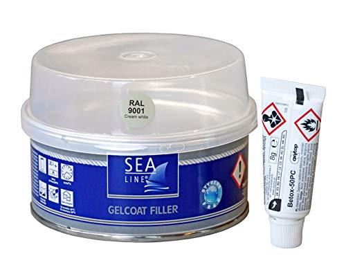 SEA, LINE Gelcoat Spachtel schnelltrocknend - styrolfrei 250g, Farbe:RAL 9001 cremeweiß