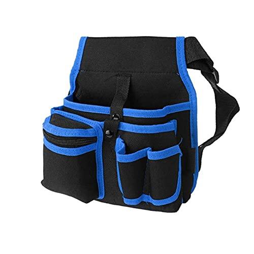 Caja de Herramientas Paquete de herramientas de cintura, bolsa de cremallera suave de poliéster pequeña Pequeña bolsa de electricista duradera con bolsillos para herramientas Llavero de linterna Kit d