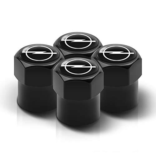 Tapones para Válvulas de neumáticos de Coche 4pc Car Styling Metal Auto Aire Válvula Vástago Tapas de Coche Válvula Válvula Accesorios Para Opel Astra J H G K Insignia Corsa D B E Mokka Universal