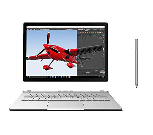 Microsoft Surface Book 13.5' 2-in-1 3000 x 2000 Touchscreen Laptop, 6th Gen Core i7 up to 3.40 GHz, 16GB RAM, 512GB SSD, NVIDIA GeForce GPU, Backlit, Win10 Pro w/Surface Pen - Platinum