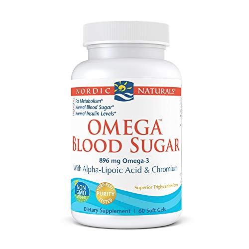 Nordic Naturals Omega Blood Sugar, Lemon - 60 Soft Gels - 896 mg Omega-3 + Alpha-Lipoic Acid & Chromium - Metabolism, Normal Blood Sugar & Insulin Levels - Non-GMO - 30 Servings