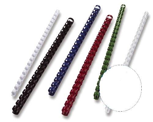 Gbc BX211670 - Gusanillos para máquina encuadernadora/perforadora (tamaño A4, 21 anillas, 16 mm, 100 unidades), blanco