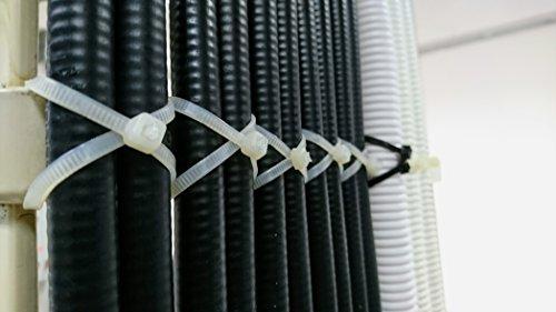 Kabelbinder Extra Lang weiß - 530mm x 4,8mm, weiss, natural, 100 Stück