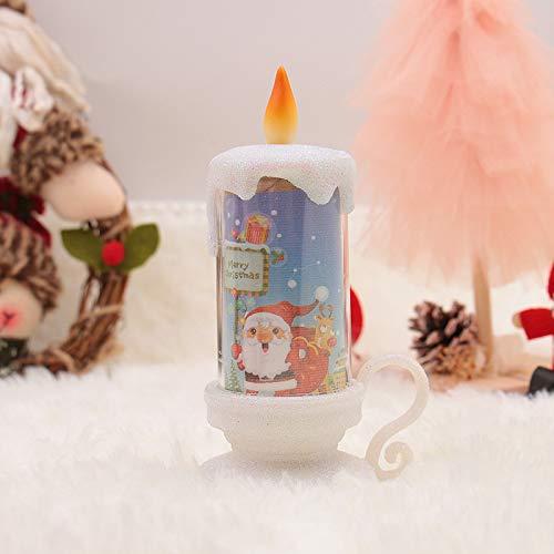 WSCOLL Weihnachtsdekoration Nachtlicht Kerzenlicht Led Elektronische Kerze Weihnachtsbeleuchtung...