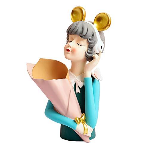 Ktimor Linda burbuja niña esculturas escritorio figuras decoración manualidades regalo decoración hogar